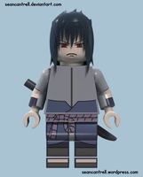 Lego Sasuke - Rinnegan (Red) by seancantrell