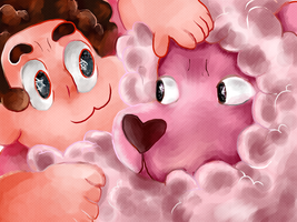 Steven And Lion by O-CoMeT-StAr-O