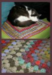 Granny square pet blanket by KnitLizzy