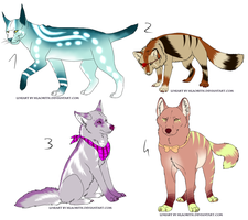 CLOSED - Mixed Adoptables 108 by LeaAdoptables
