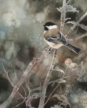 November Chickadee by MistiqueStudio