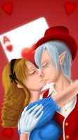 HatterAlice - Passionate Kiss by Midnight-Dark-Angel