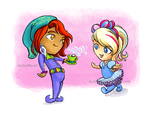 Mad Pajama Party - Mad Hatter and Alice by ArtbyMaryC
