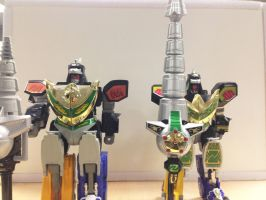 MMPR - Dragonzord in battle mode! by ryanthescooterguy