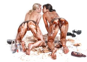 Yummy chocolate girls by Badassphotoguy