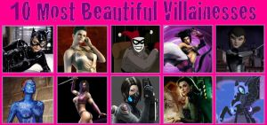 My top ten beautiful villainess by porygon2z