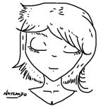 Beauty Line Art. Female Head Art. by NatCanDo