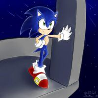 Sonic in the sky city by RuiNami