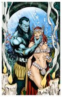 ATTUMA  and  JEAN GREY  by david yardin by Mich974