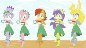 Sonic Girls - He Mele No Lilo by mydreamisdraw