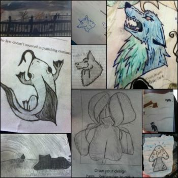 Doodle collage 1 by GodsSparkleyGirl