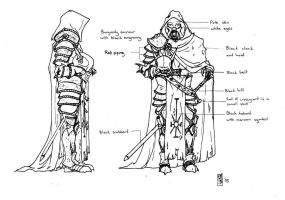 Death Knight concept lineart 1 by Tommi-75
