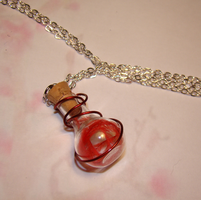 Phoenix Down Necklace by OVCharms