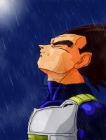 Vegeta Rain color by CorranHorn507