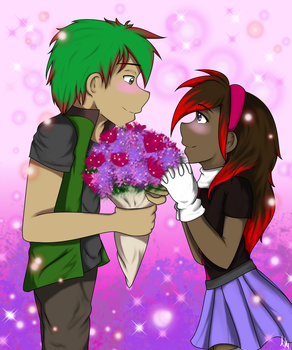 Flowers for the Lady by PurpleCheetahWolf