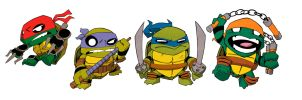 Teenage Mutant Ninja Turtles Little Big Head by AgentBiLL