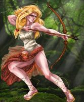 Elf huntress by Internal-Disaster