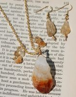 Citrine Chunky Crystal Set by kittykat01