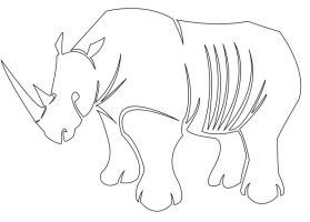 Single-Line Rhino by head-space88