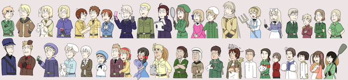 Hetalia Family guy style by Alikurai