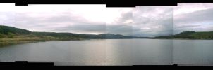 Carron Reservoir Panorama by lupercal