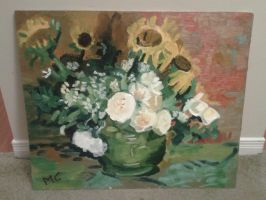 Vase with Sunflowers by Moonstar37