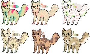 Cat Batch 2 [OPEN] by FlaaffysTaffyAdopts