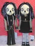 Goth Raggedy Ann and Andy by Zosomoto