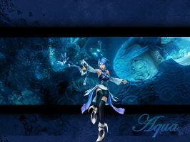 Kingdom Hearts Aqua 1a by LumenArtist