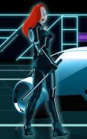 Jessica Rabbit in TRON by FitzOblong