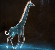 Glow Giraffe by i-am-your-idea
