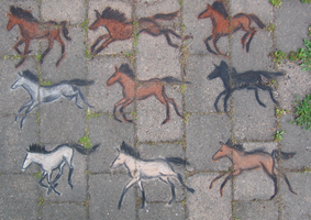 Pavement Horses by Mackico