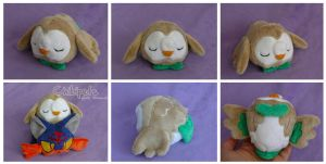 Rowlet Custom Plush by Chibi-pets