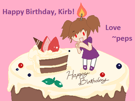 Happy Birthday, KIRB by peppermix14