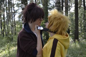 Wolf's Rain cosplay Kiba and Hige by Setor
