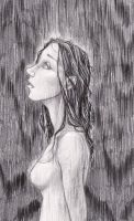 Standing in the rain by GenkiGoth