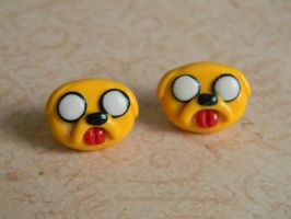 Jake The Dog Studs-Polymer Clay Adventure Time by ThePetiteShop