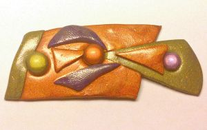 brooch made with fimo by sississweets