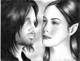Aragorn and Arwen by R-becca