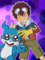 Daisuke and Veemon by tussensessan