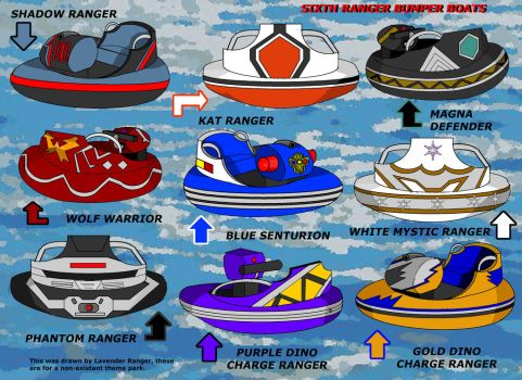 Sixth Ranger/Extra Heroes Bumper Boats by LavenderRanger