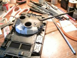 Tamiya 1/35 T-62 Progress report 2.2.1 by DelosQAndrews