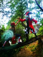 Lee sin vs Shaco cosplay league of legends Chile by RosseSinner