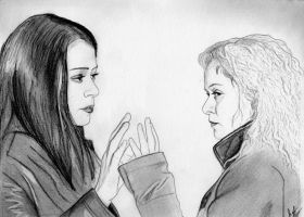 We Have a Connection (Orphan Black Drawing) by julesrizz