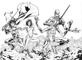 John Carter of Mars inks by JosephLSilver