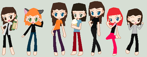Friends as Chibis by Demonqueen23