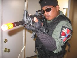 Resident Evil UBCS searching the compound by Demon-Lord-Cosplay
