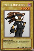 Yu-gi-oh: Val the Hedgehog by shadowmjl