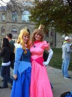 Halloween 2012: Sleeping Beauty and Princess Peach by kcjedi89