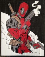 Deadpool Duct Tape Art by DuctTapeDesigns